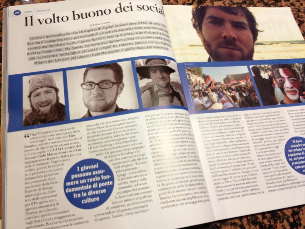 tim brauhn in pubblicita italia magazine